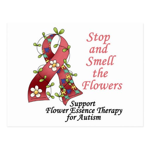 Flower Therapy for Autism Post Cards
