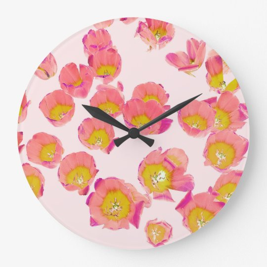 Flower Therapy Large Clock