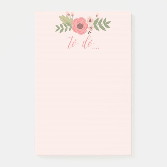 Flower to do list note