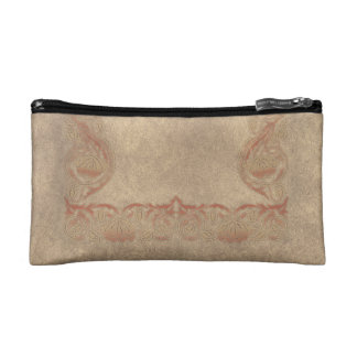 Flower tone on tone cosmetic bag