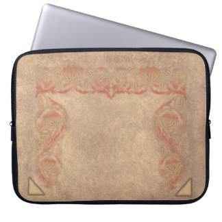 Flower tone on tone laptop sleeve