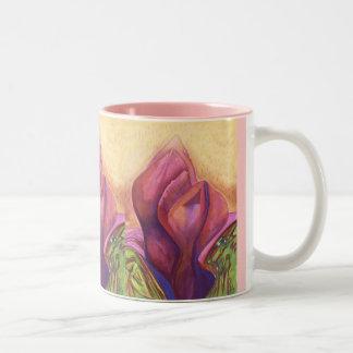 Flower torsos Two-Tone mug