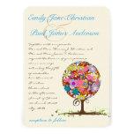 Flower Tree Aqua Blue Font Wedding Invitation