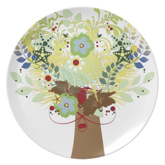 Flower Tree Plate