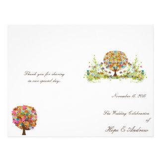 Flower Tree Wedding Program Flyer