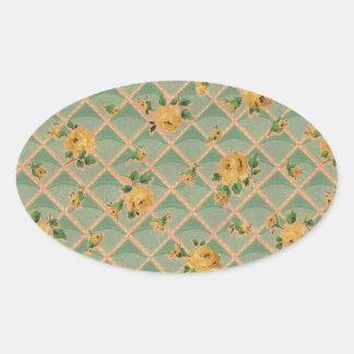 Flower Trellis Rosebud Sticker