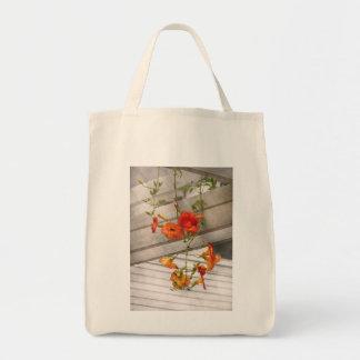 Flower - Trumpet melodies Tote Bags