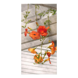 Flower - Trumpet melodies Personalized Photo Card