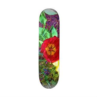 Flower Tulip drawing Skate Board