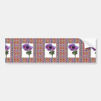 Flower Unique and Jewel Pattern Elegant gifts Bumper Sticker