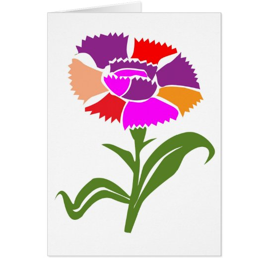 FLOWER : Unusual  Colour Scheme Card