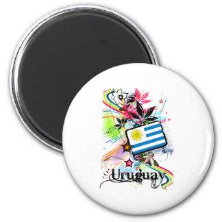 Flower Uruguay 6 Cm Round Magnet