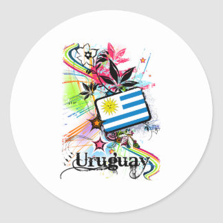 Flower Uruguay Classic Round Sticker