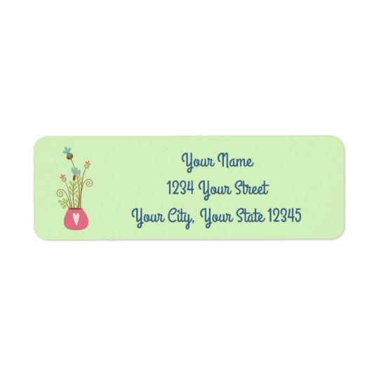 Flower Vase Address Label