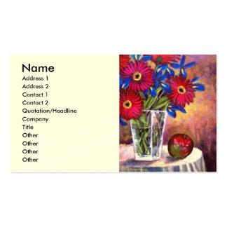 Flower Vase Daisy Gerber Florars  Painting - Multi Pack Of Standard Business Cards