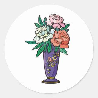 flower vase round stickers