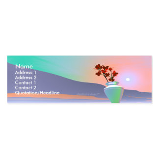 Flower Vase - Skinny Double-Sided Mini Business Cards (Pack Of 20)