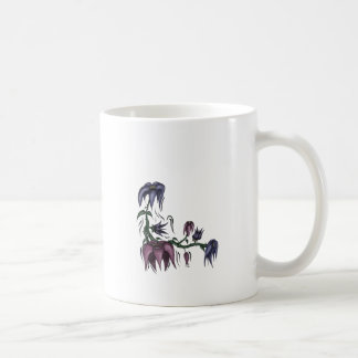 Flower Vine Basic White Mug