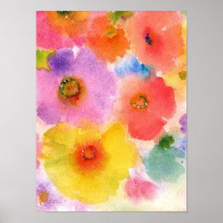flower watercolor print