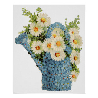 Flower Watering Can Poster