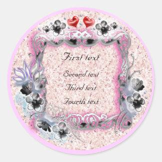 flower wedding round sticker