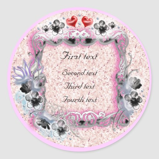 flower wedding stickers