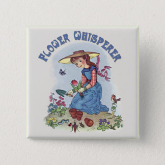 Flower Whisperer 15 Cm Square Badge
