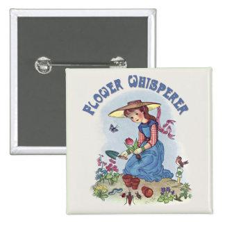 Flower Whisperer 15 Cm Square Badge