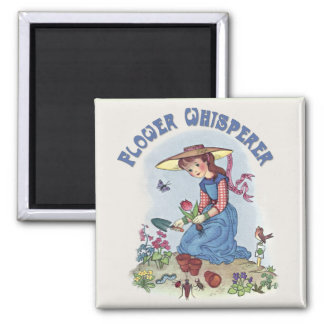 Flower Whisperer Square Magnet