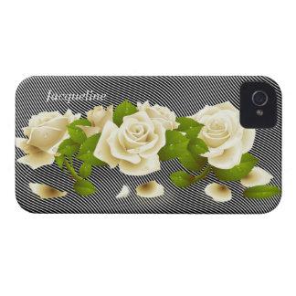 Flower White Roses iPhone 4 Case