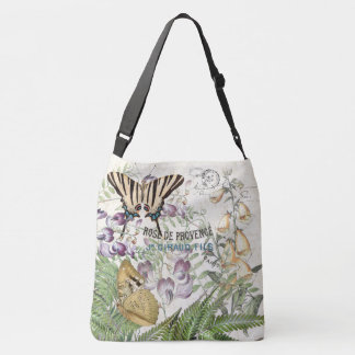 Flower Wildflower Butterfly Moth French Tote Bag