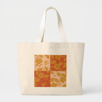 Flower with respect to chequered tote bags