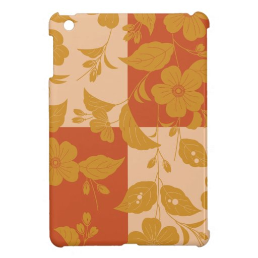 Flower with respect to chequered iPad mini cases