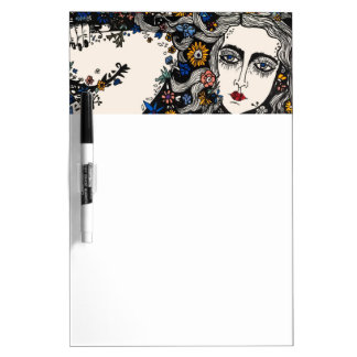 Flower woman erase board dry erase whiteboard