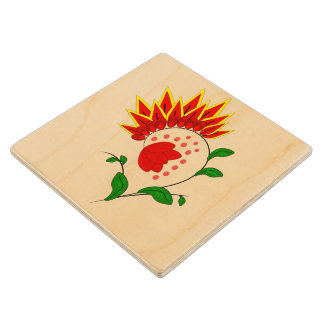 Flower Wood Coaster