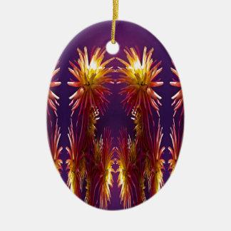 Flower Works Ceramic Oval Decoration