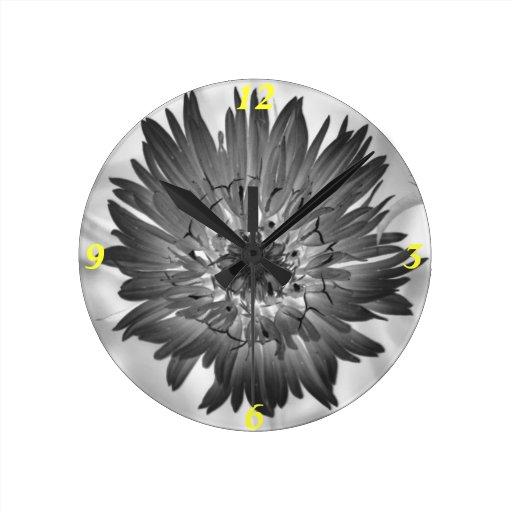 flower xray wall clock
