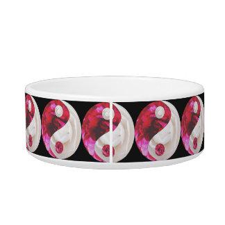 Flower Yin Yang Pet Dish Cat Water Bowl