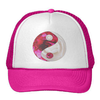 Flower Yin Yang Pink & White Hat