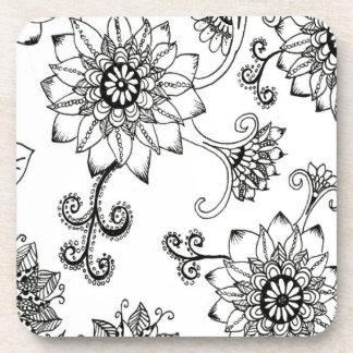 Flower Zendoodle Coasters