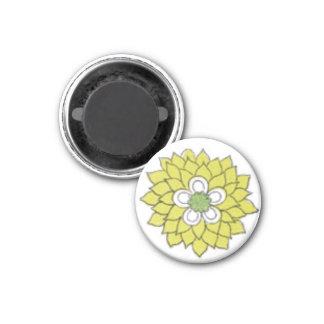 Flowerb 3 Cm Round Magnet