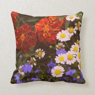 Flowerbed Throw Pillow