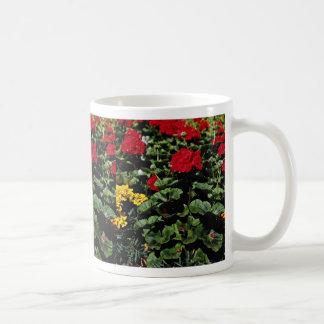 Flowerbed  flowers coffee mugs