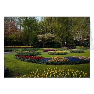 Flowerbeds at Keukenhof, Netherlands Greeting Card