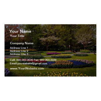 Flowerbeds at Keukenhof, Netherlands  flowers Business Card