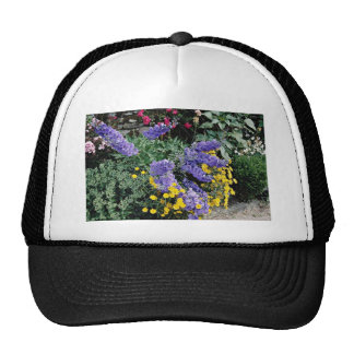 Flowerbeds on the grounds of Hadden Hall, England Mesh Hats