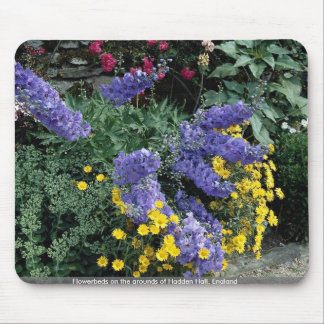 Flowerbeds on the grounds of Hadden Hall England Mouse Pad