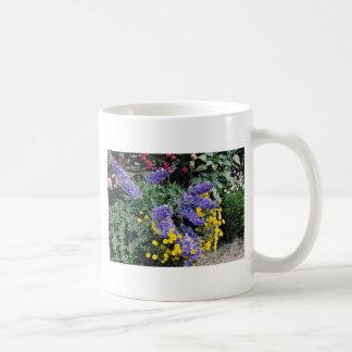 Flowerbeds on the grounds of Hadden Hall, England Coffee Mugs