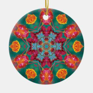 flowerberry round ceramic decoration