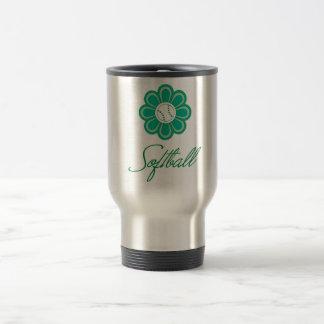 Flowerboom Softball Travel Mug